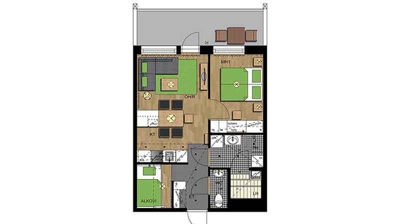 Levi Chalets, 2 bedrooms