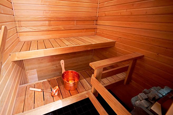 Deluxe sviitin sauna Hotel Levi Panoramassa