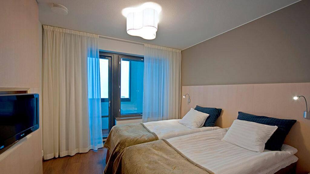Hotel Levi Panoraman Deluxe-sviitti kahdella makuuhuoneella.