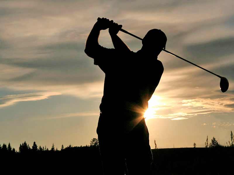 Golfia tunturimaisemissa