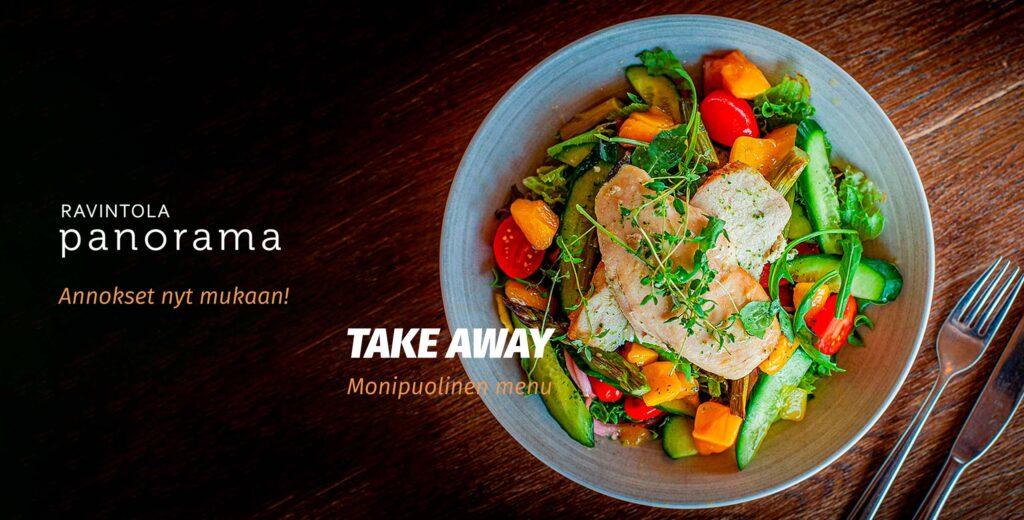 Take away -ruoka ravintola Panoramassa Levillä.