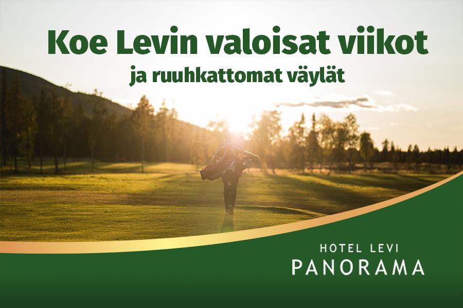 Kesän edullinen majoitustarjous golfaajille Hotel Levi Panoramassa Levillä